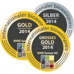 Medaillen Griechischer Weinpreis 2014